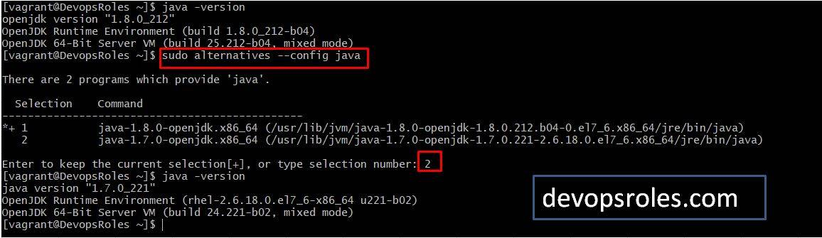 How to switch JDK 8 to JDK 7