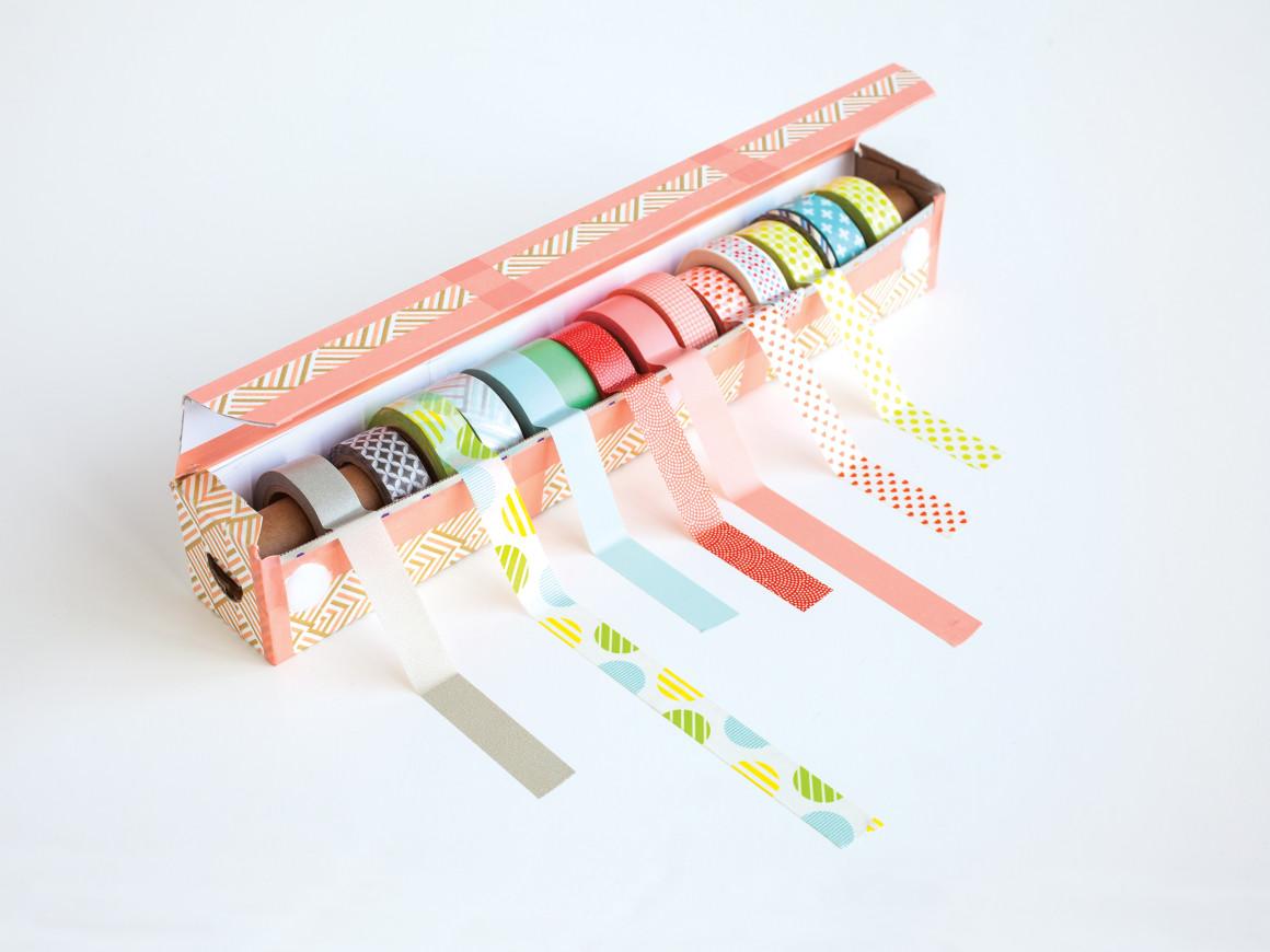 DIY washi Tape dispenser, washi tape storage diy
