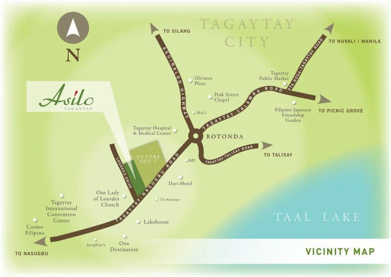 Asilo Tagaytay - Vicinity Map