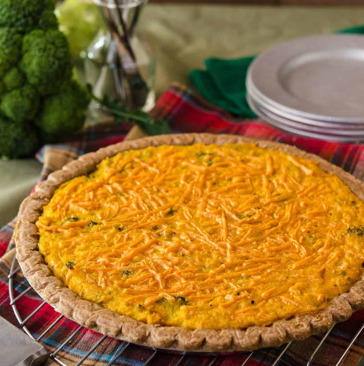 Broccoli Cheddar Quiche