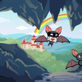 Illustration showing TomBat and PonyBat demonstrating how to use a VPN