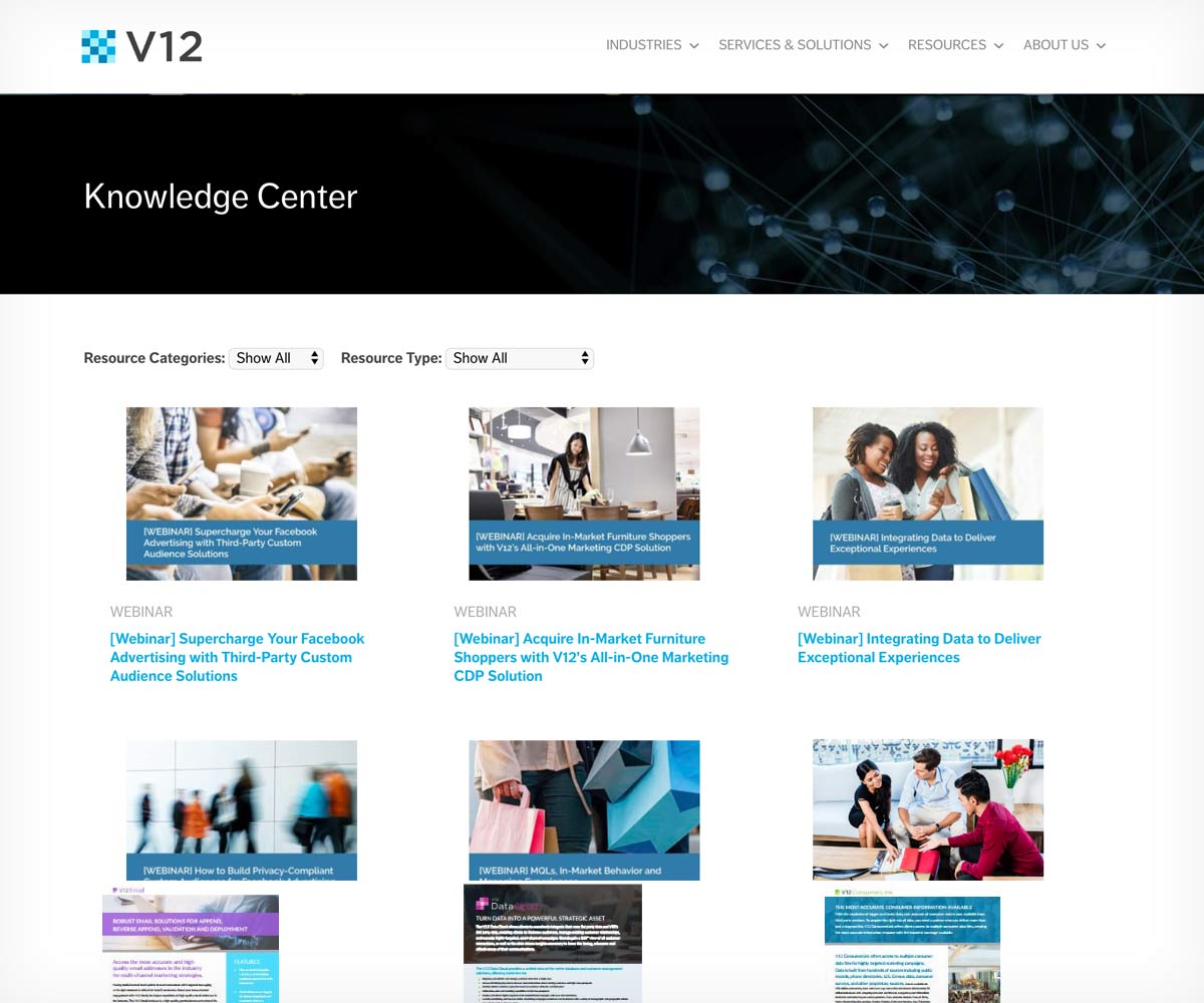 v12 resources page