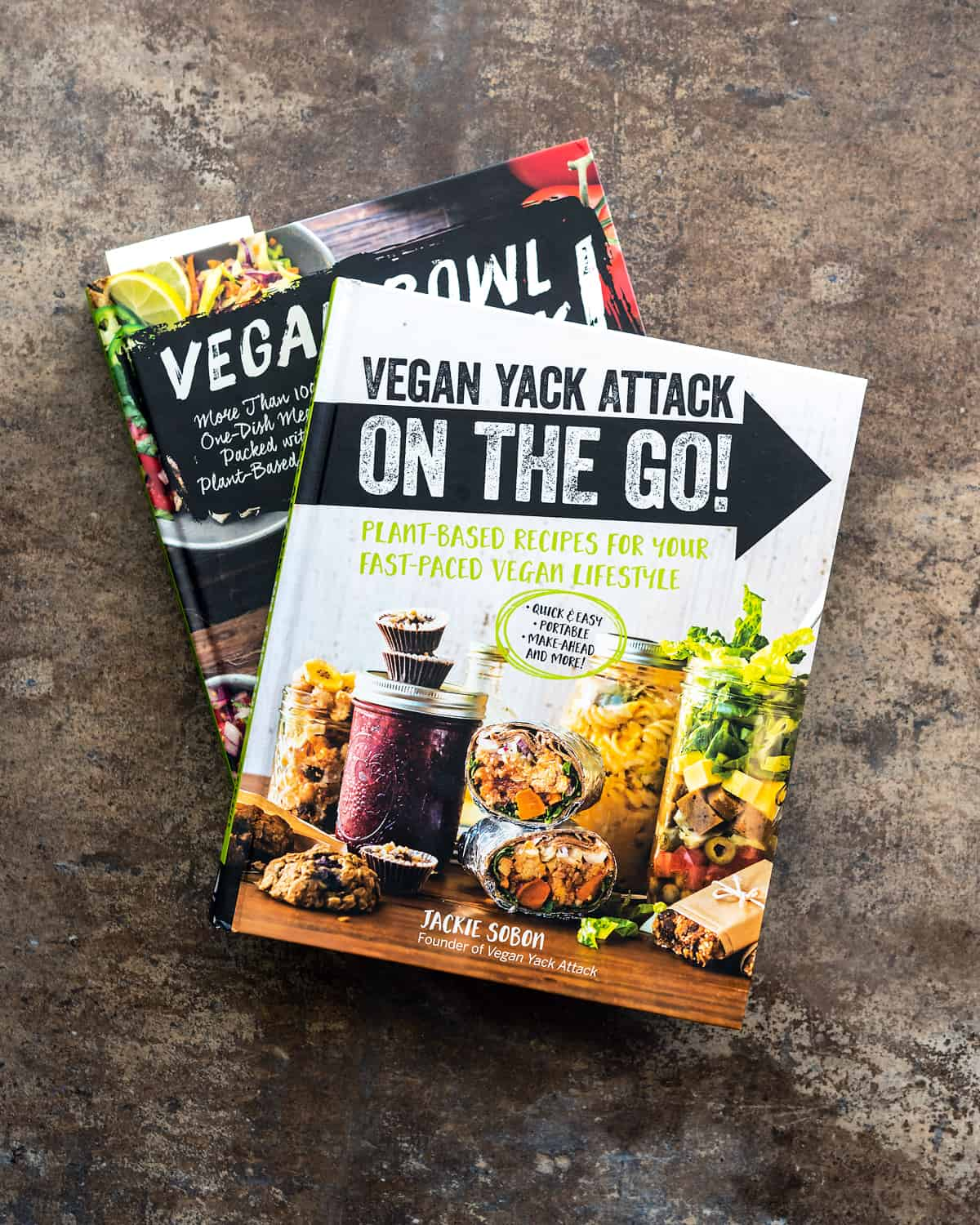 Vegan Yack Attack On the Go! and Vegan Bowl Attack! Cookbooks by Jackie Sobon