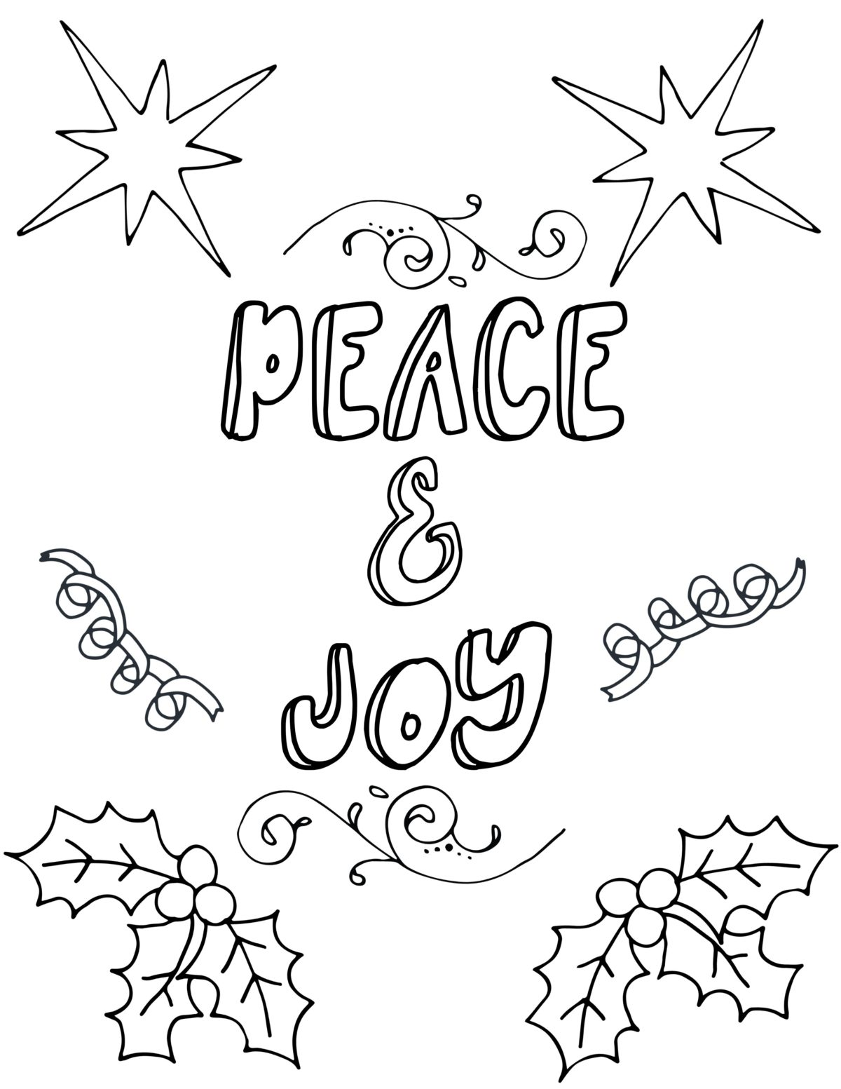 Free Printable Christmas Coloring Pages For Adults Organize Declutter