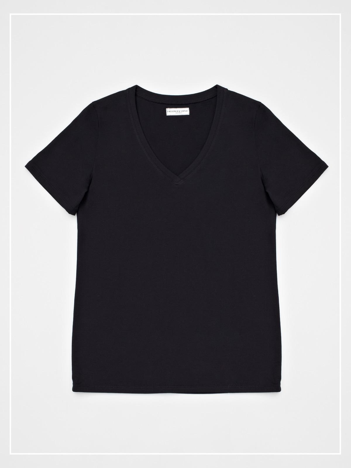 frederickandsophie-tshirt-vneck-black-grace