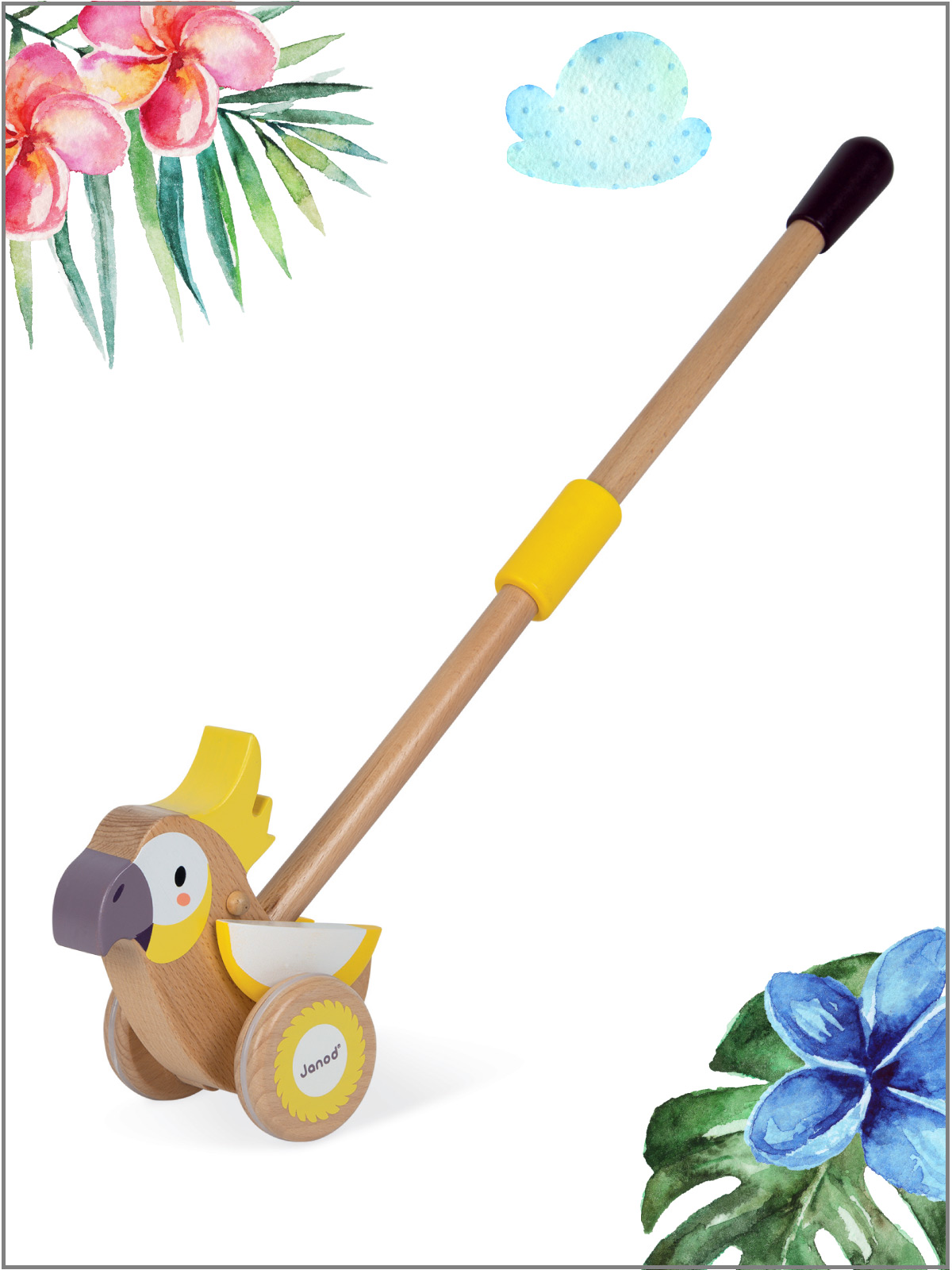 frederickandsophie-kids-toys-janod-france-push-cockatoo-WWF-play-walk