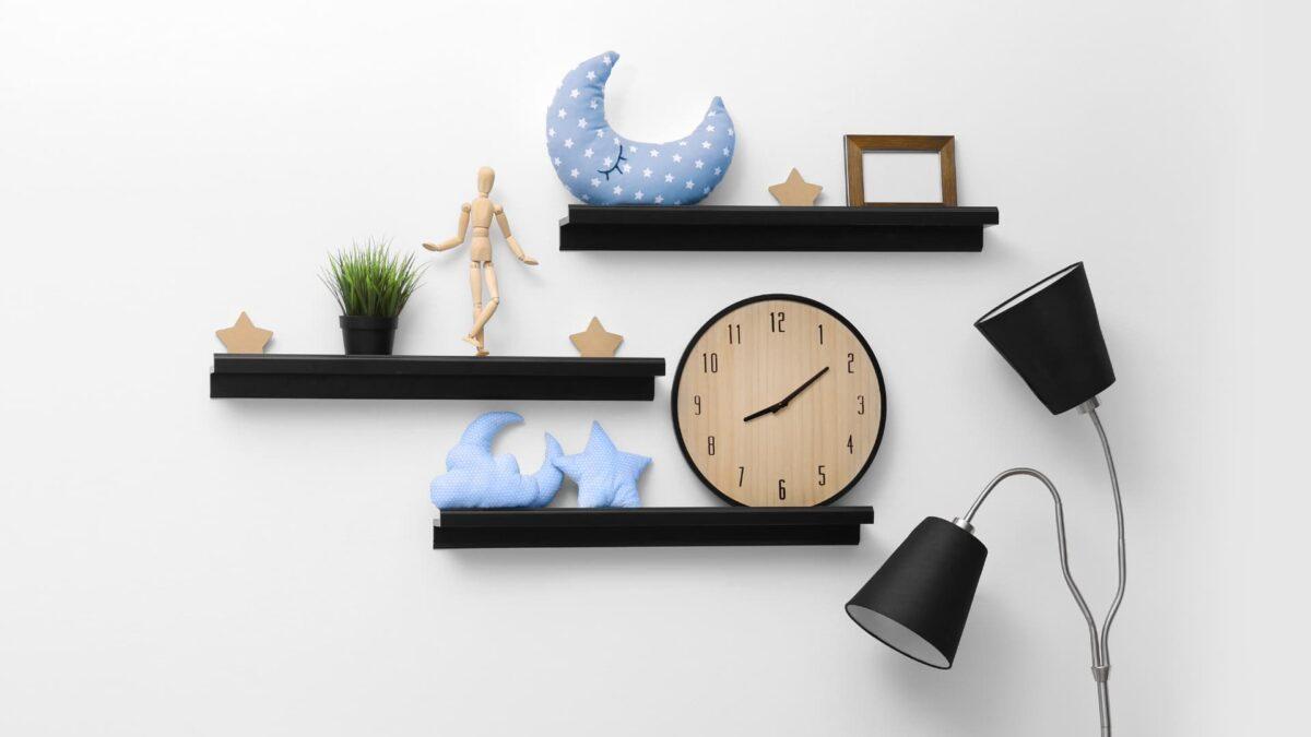 nursury organization ideas floating shelves