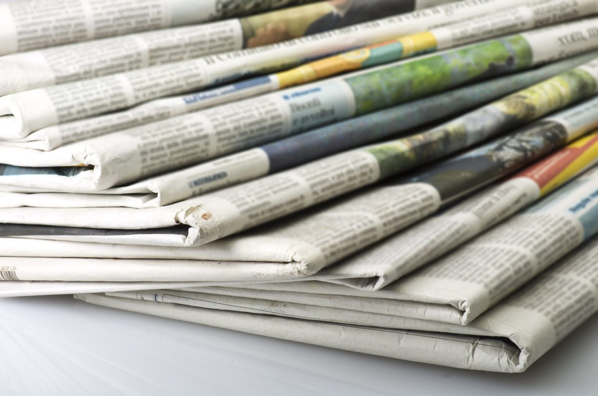 Stack of newspapers-toilet paper alternatives