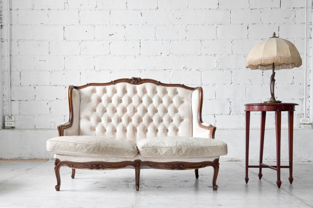 heirloom furniture in a white room-declutter family heirlooms