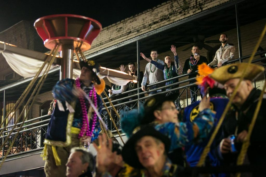 Photo from the 2015 Ybor City Night Parade in Tampa, by NYC photojournalist, Kelly Williams