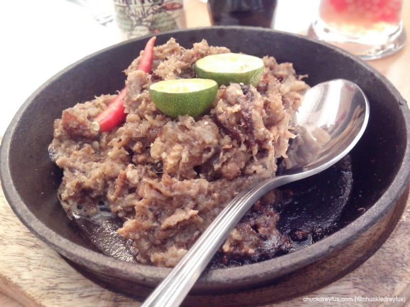 """Cowboy Sisig"" - a play on the words ""cow"" and ""baboy"". My favorite!"