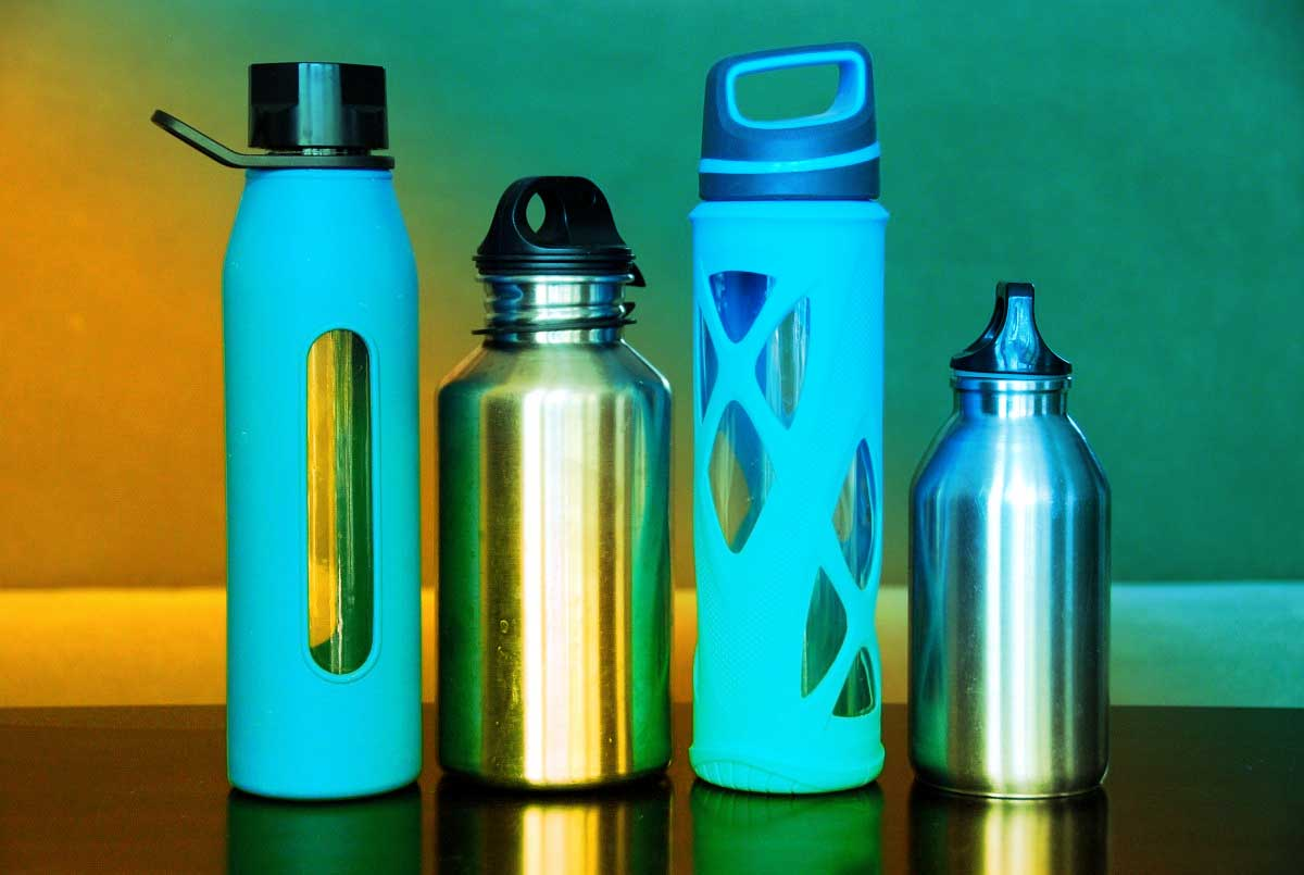 Water bottles to keep hydrated