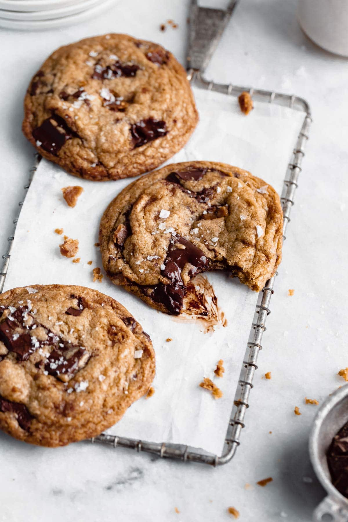 brown butter toffee chocolate chip cookie recipe