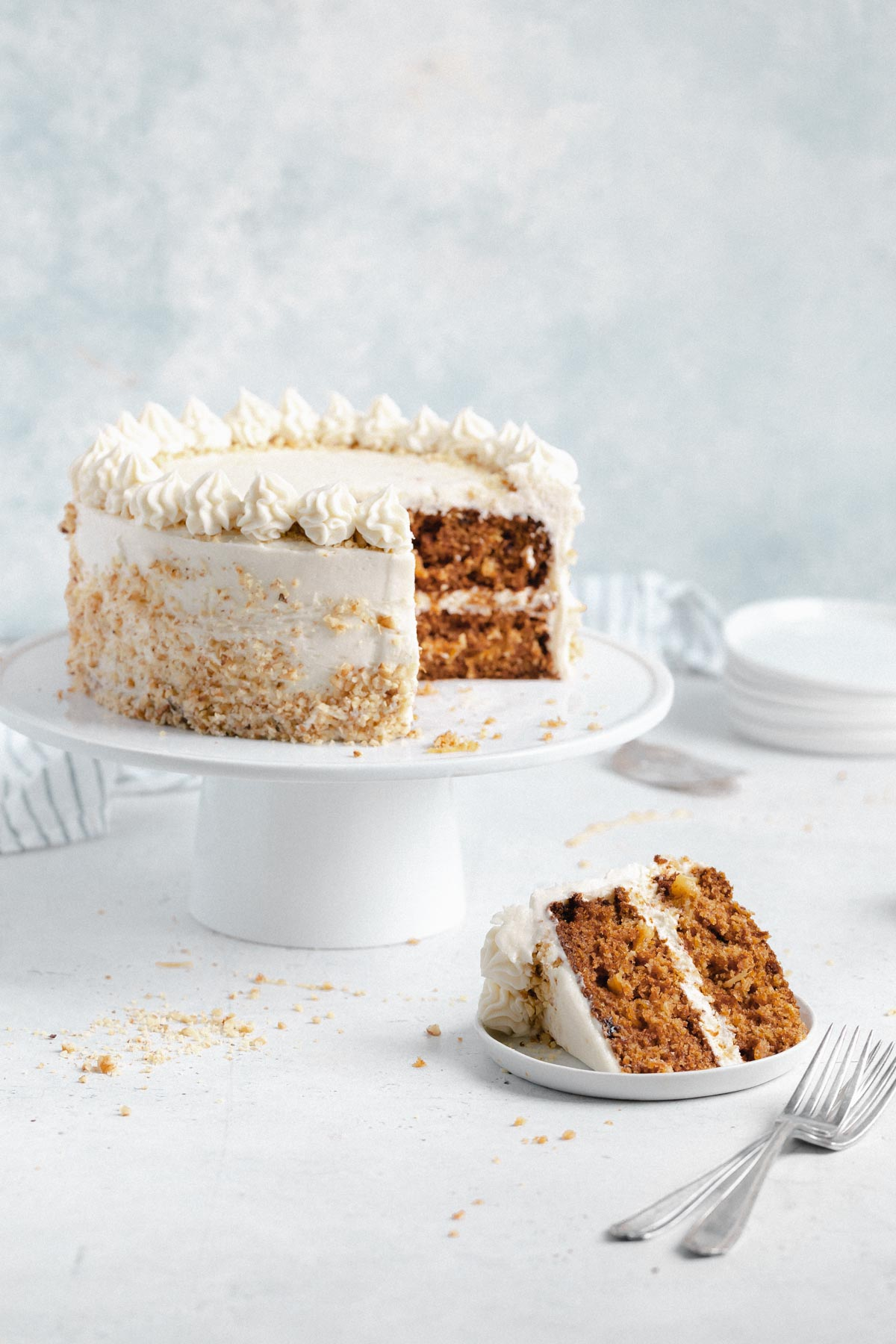 the best carrot cake recipe with thick cream cheese frosting