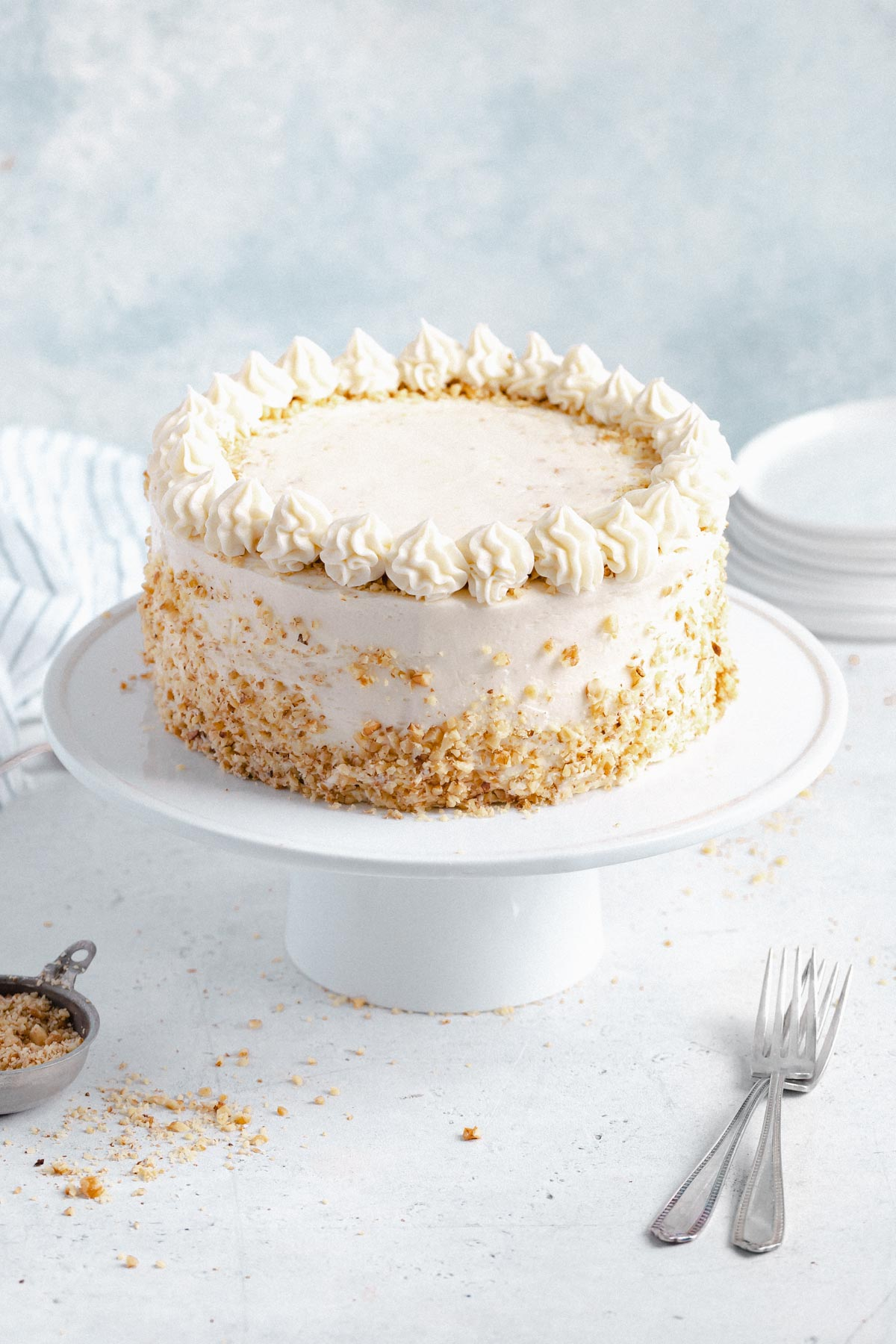 carrot cake frosted with cream cheese frosting