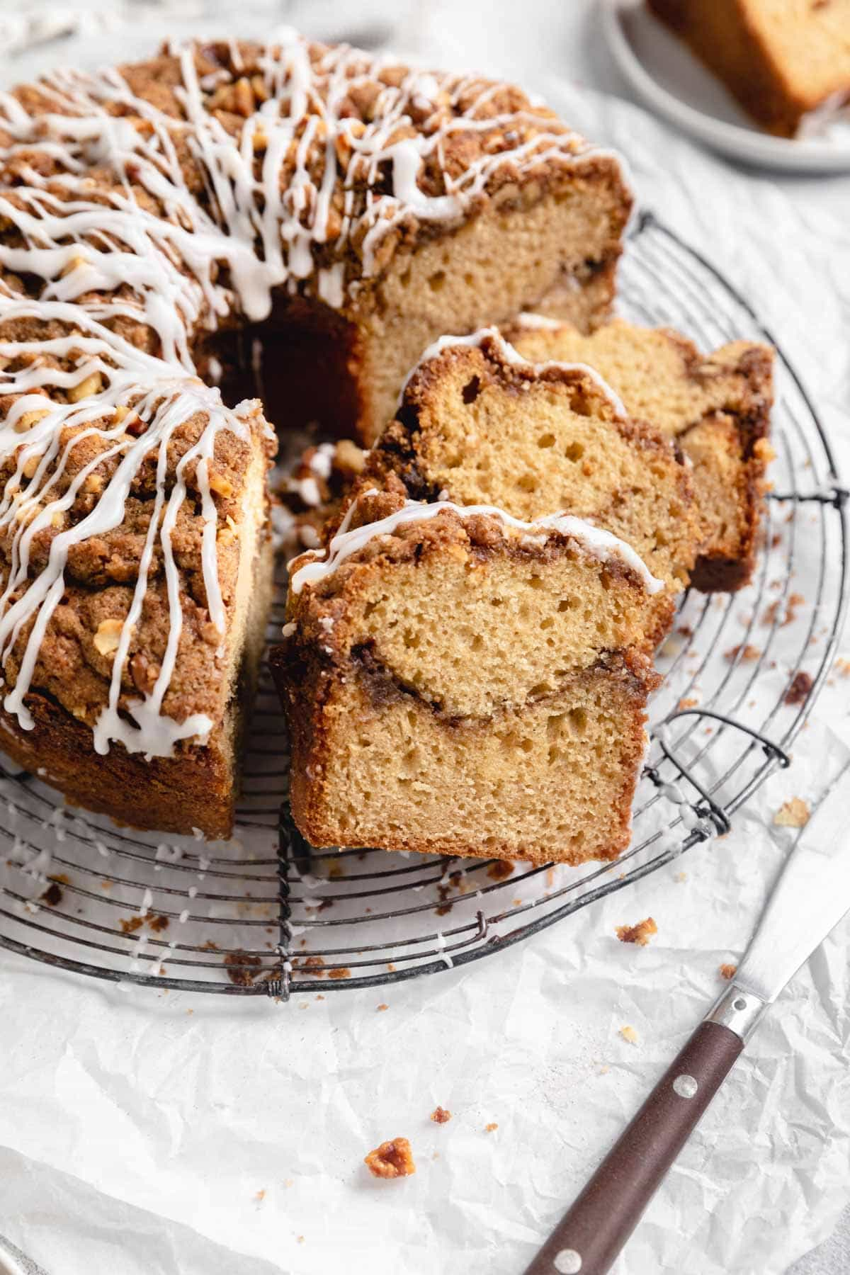 moist sour cream coffee cake with streusel