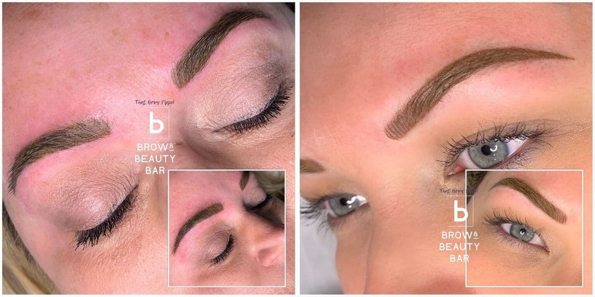 powder brows done by Erin Exline