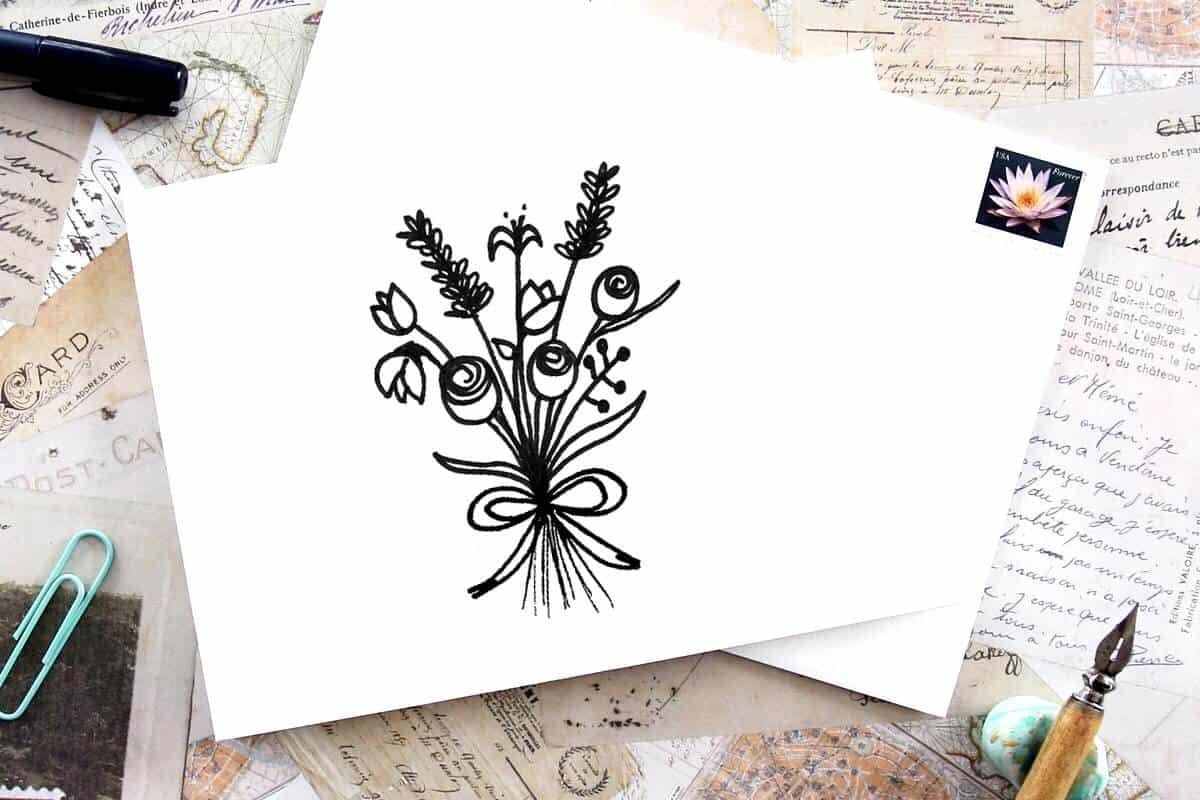 Easy Floral doodle tutorials