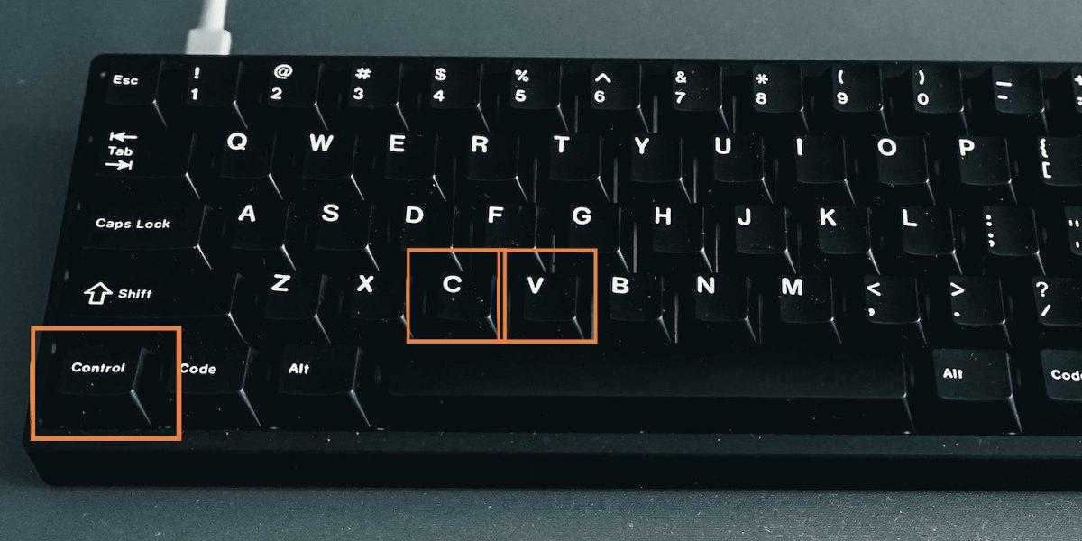 Copia e incolla da tastiera con Windows