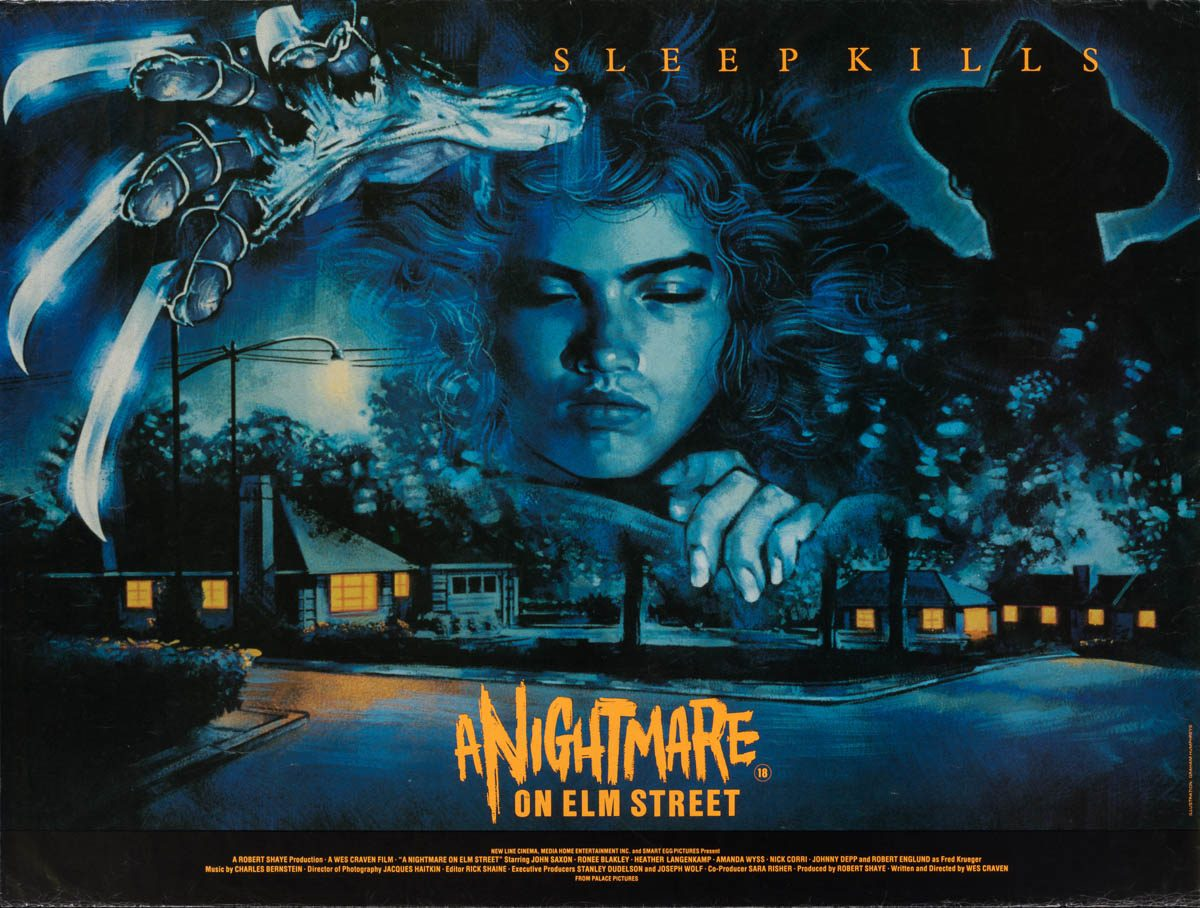 A Nightmare on Elm Street (1984 UK Poster)