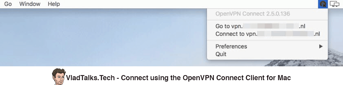 How to connect using the OpenVPN Connect client for Mac