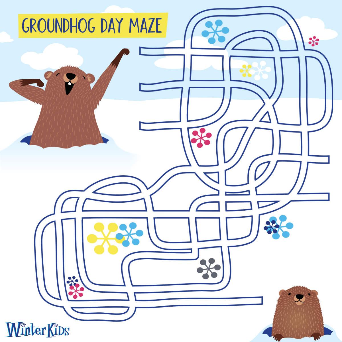 WinterKids Groundhog Day Maze BLOG IMAGE REV