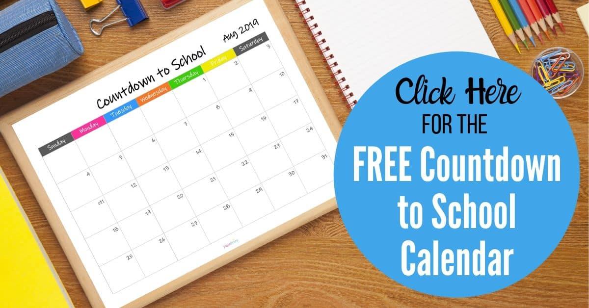 free countdown to school calendar