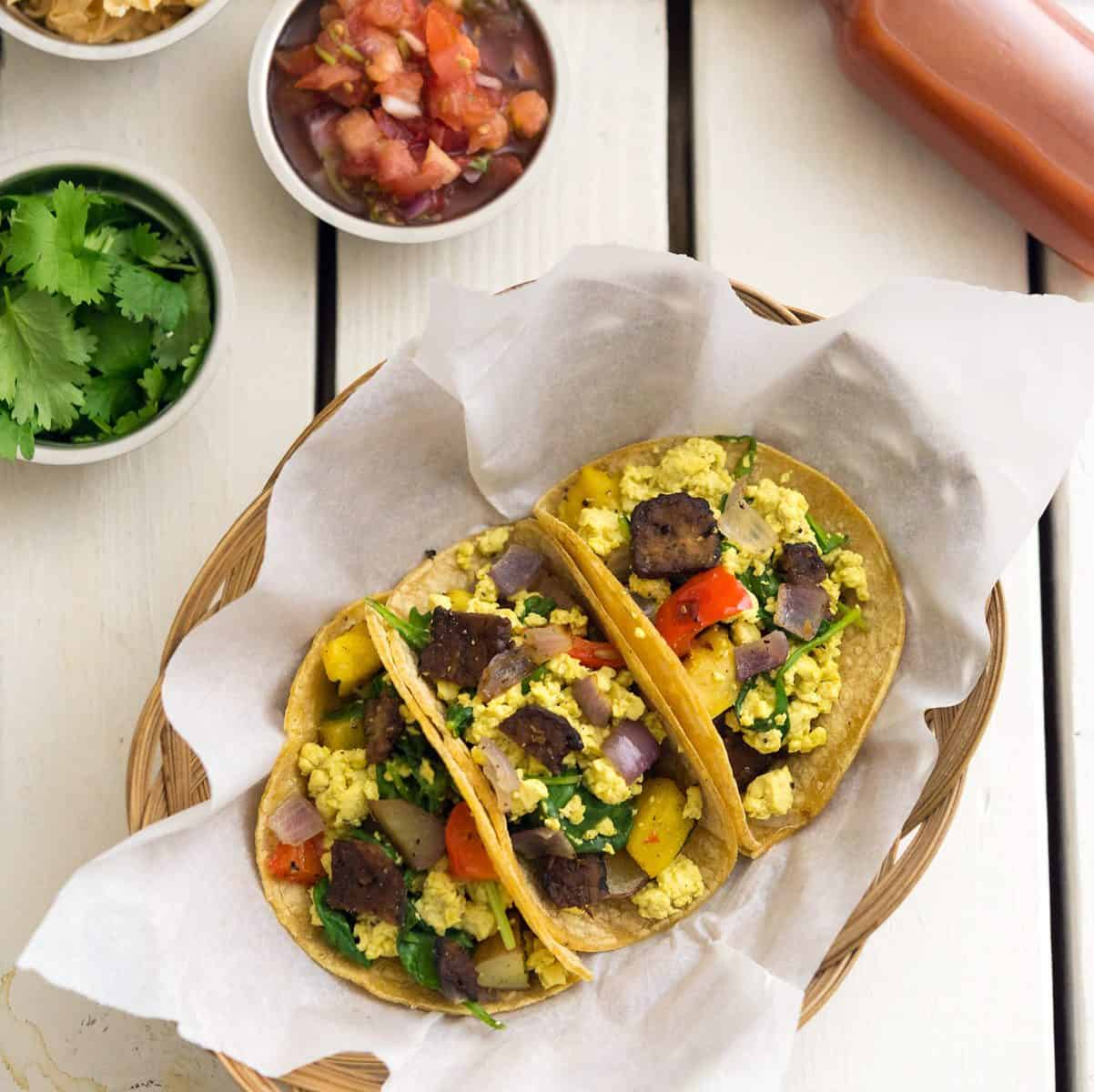 Squash & Scramble Breakfast Tacos