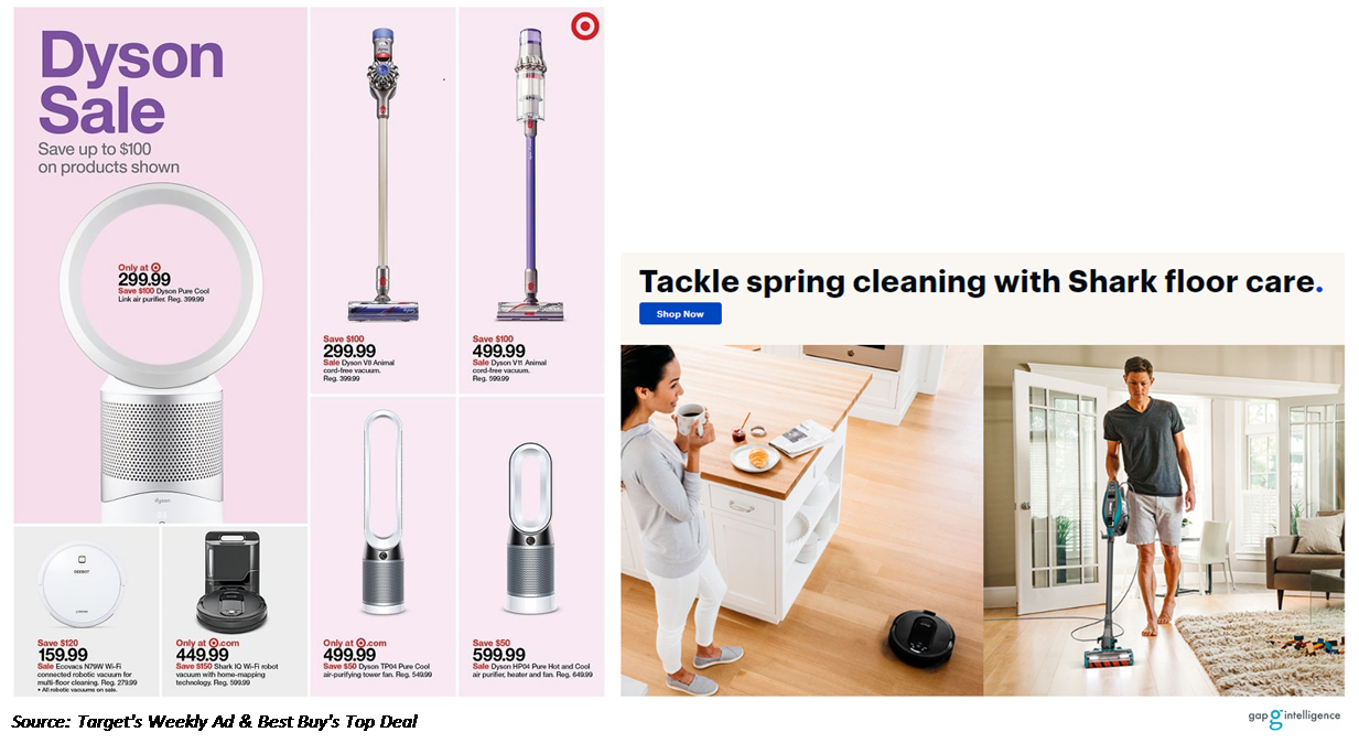 Ad Images from Target & Best Buy Mother's Day fliers