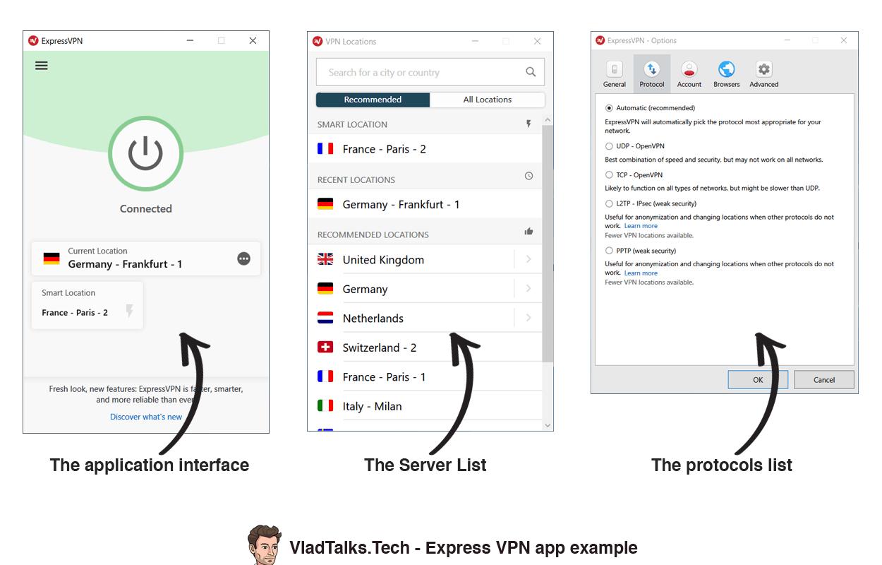 VPN client example - ExpressVPN