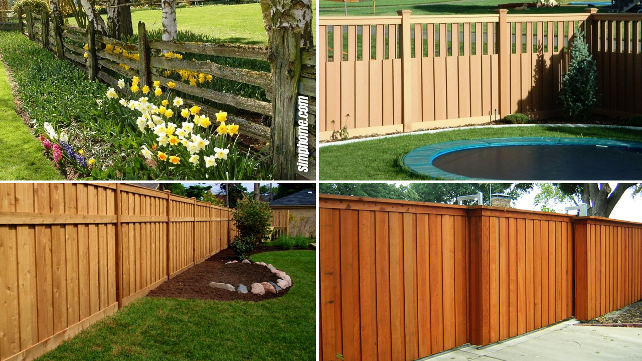 SIMPHOME.COM 10 Tricks How to Upgrade Wood Fence Ideas for Backyard Featured Image