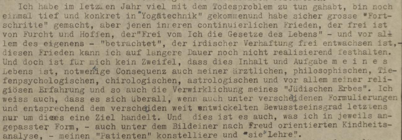 Una lettera di Ernst Bernhard - fra yoga e astrologia