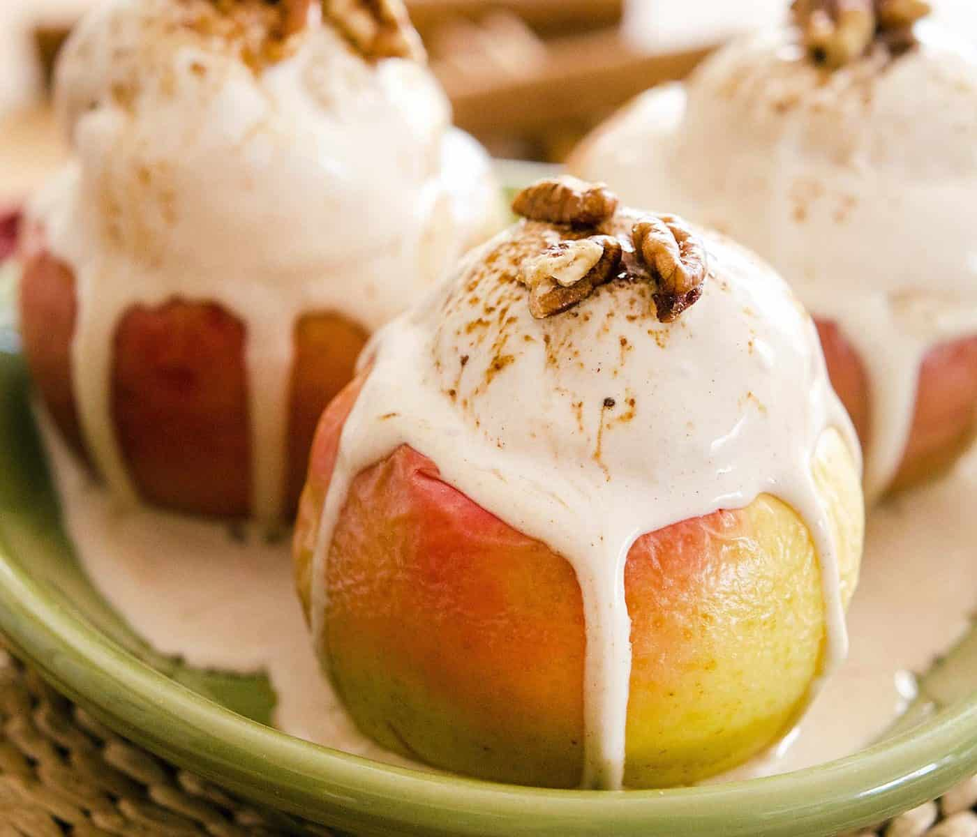 Baked Apple Cinnamon Sundaes Vegan Yack Attack