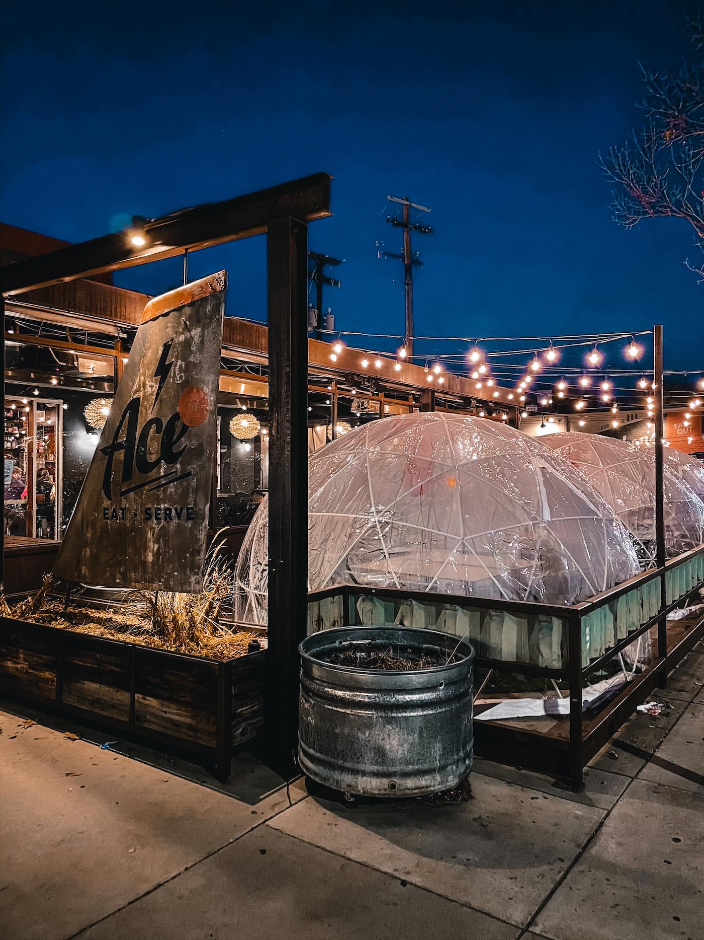 Ace Eat Serve Denver Winter Outdoor Dinning