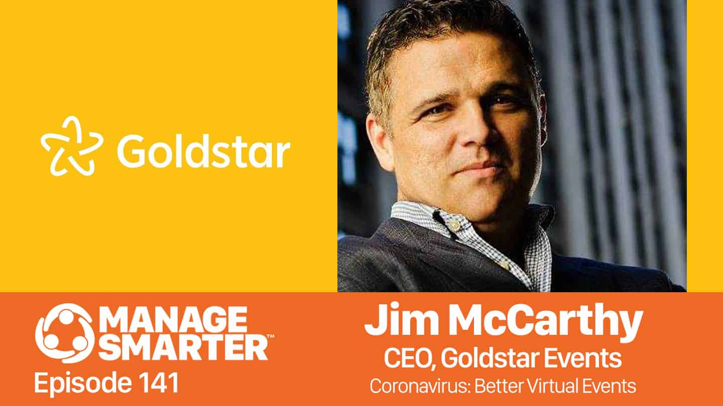 JIm McCarthy of TEDx Broadway on the Manage Smarter podcast from SalesFuel
