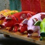 pig knick knacks on shelf