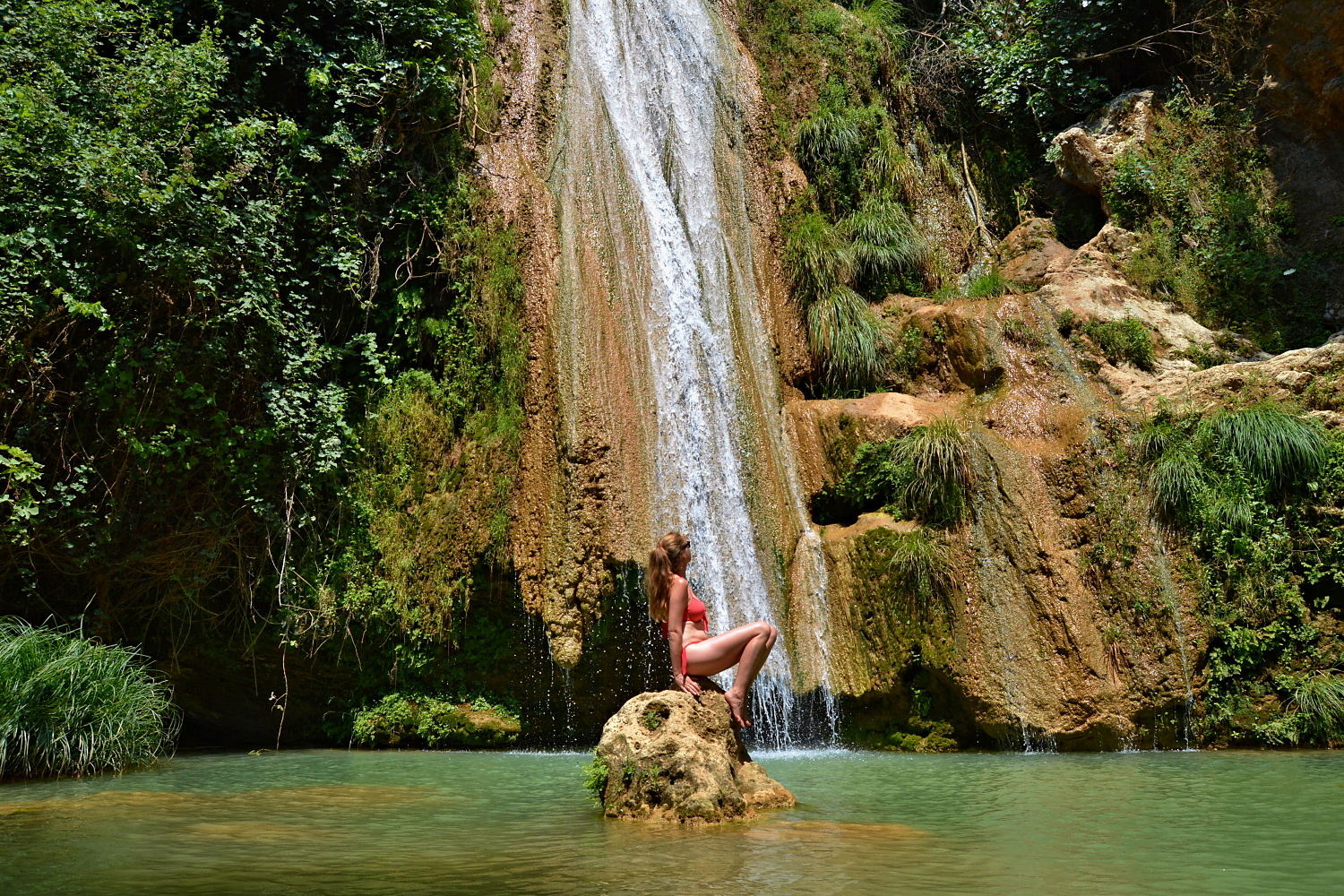 Kalamaris Waterfall, Messinia, Greeec