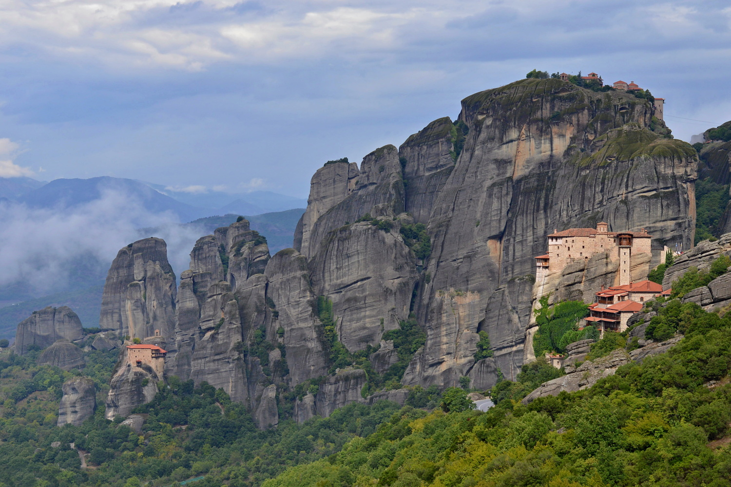 Agios Nikolaos Anapafsas and Rousanou Monasteries, Meteora, Greece