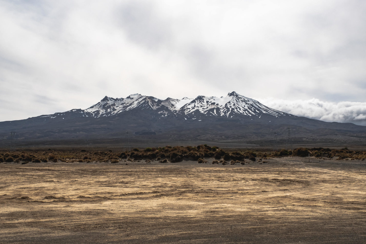 Mount Ruapehu im Tongariro National Park in Neuseeland