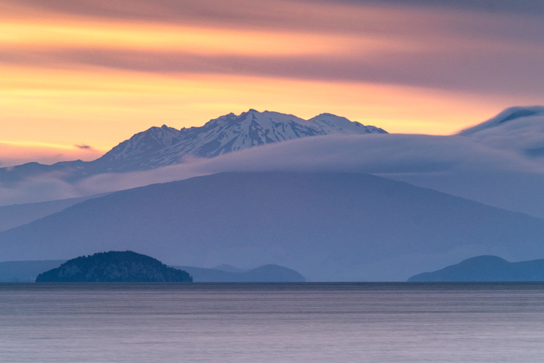 Mount Ruapehu im Abendlicht