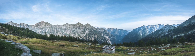 Panorama einer Berglandschaft