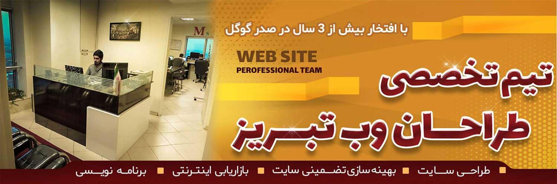 سایت تبریز - مرکز طراحی سایت در تبریز ⭐ 33379347 | تعرفه استاندارد و ارزان