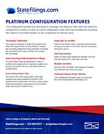 Download > StateFilings.com Platinum Configuration Features