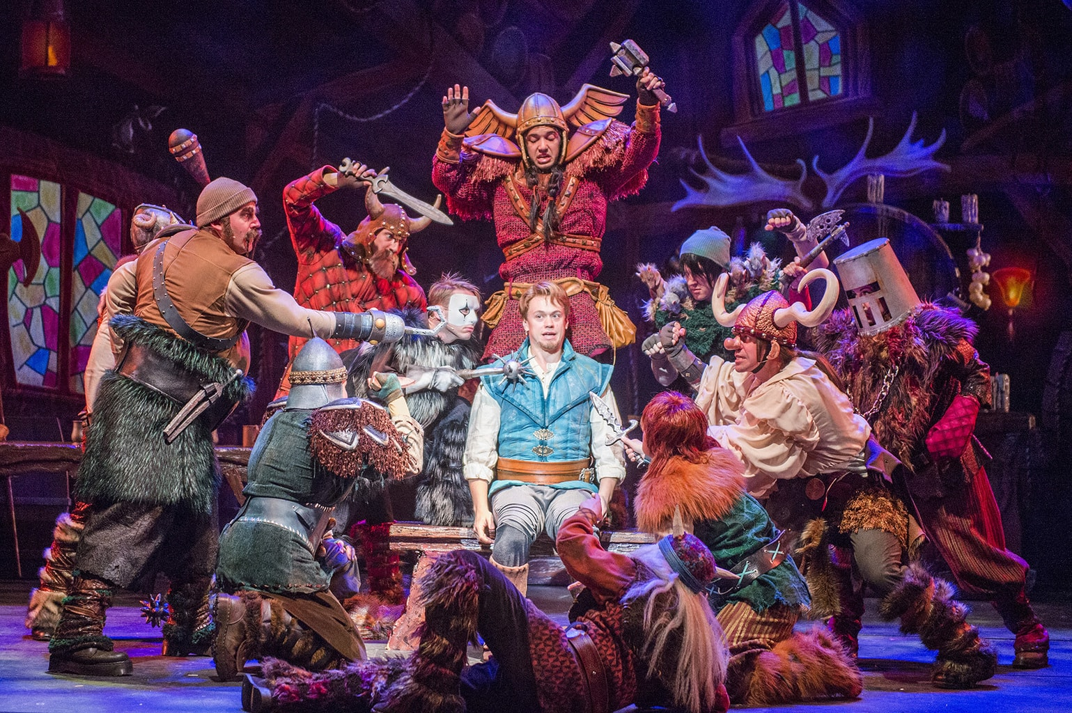 """""""Tangled: The Musical"""" is the newest original Disney Cruise Line stage spectacular. Presented exclusively aboard the Disney Magic, it combines a heartfelt story, an enchanting score and lavish production numbers to showcase the thrilling adventure of Rapunzel and Flynn Rider as they face ruffians, thugs and a budding romance on an exhilarating journey of self-discovery. (Ryan Wendler, photographer)"""