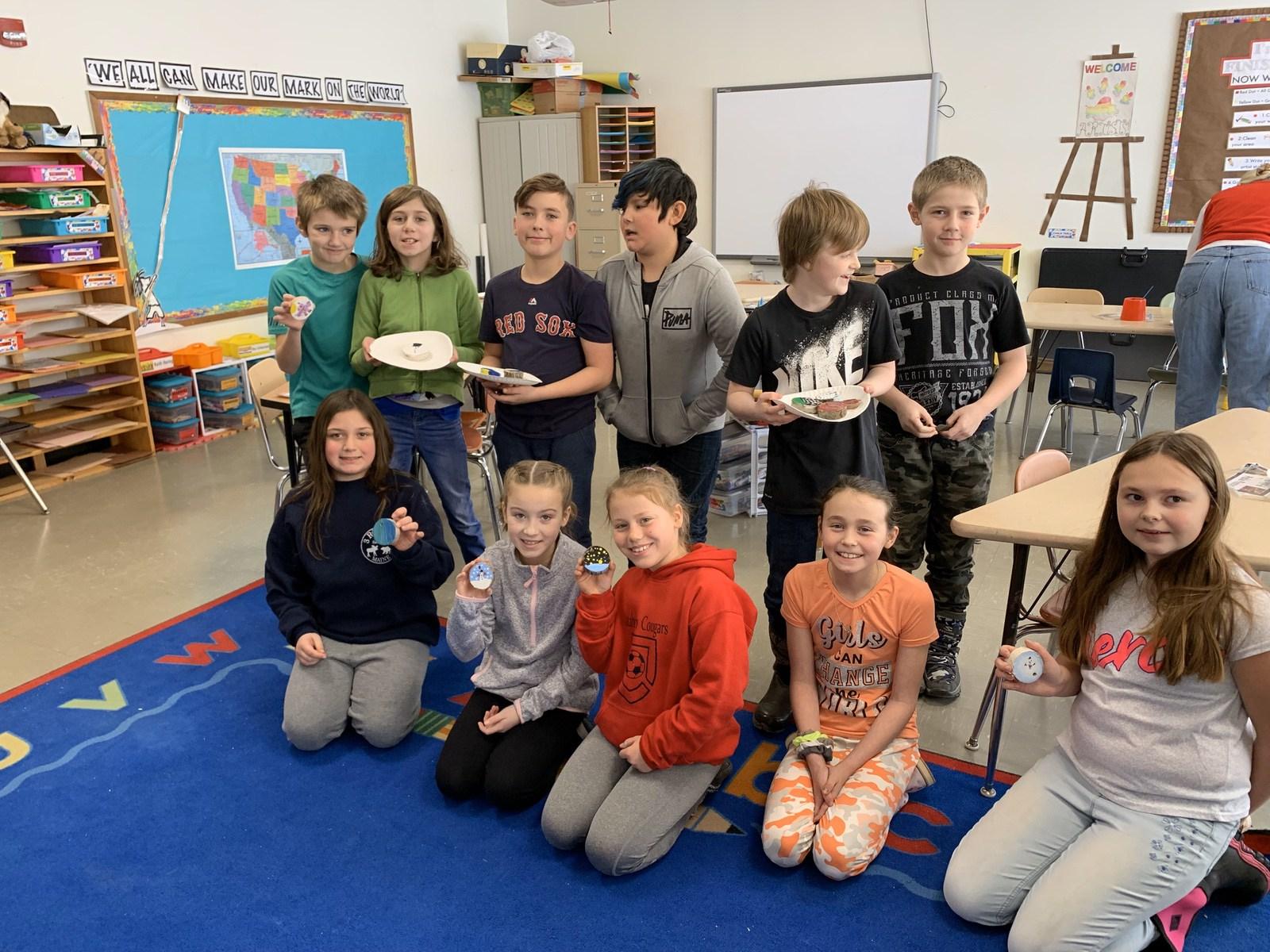 Katahdin Elementary Students Tree Cookies Activity WinterKids