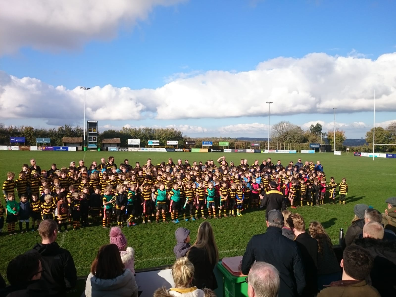 Canterbury Rugby Mini & Junior section commentating Remembrance Sunday