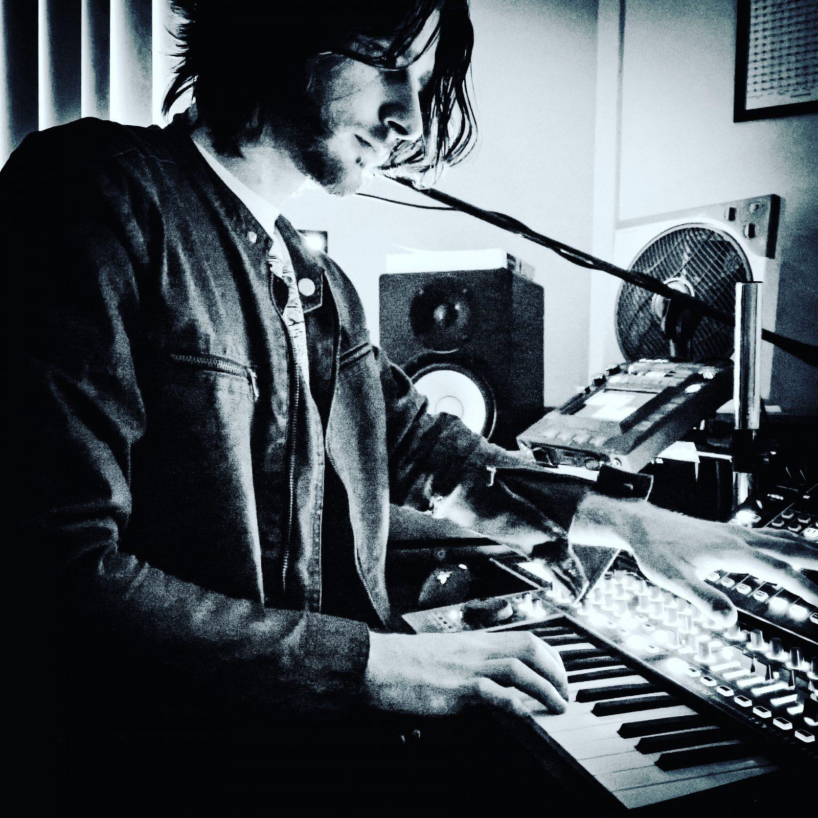 Photo of Mike Bello in the studio