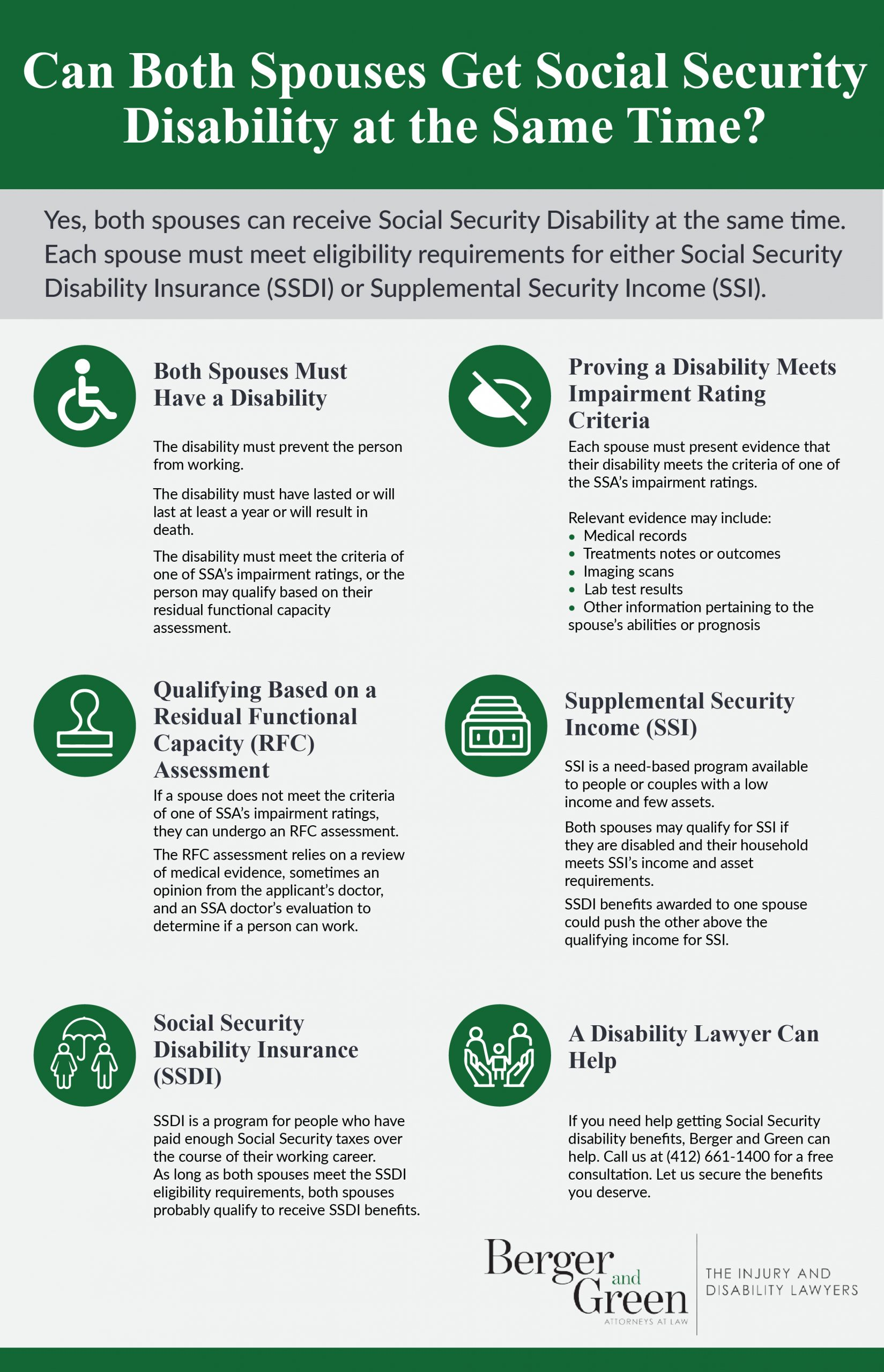 Can Both Spouses Get Social Security Disability at the Same Time?