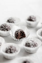 These 4-ingredient Chocolate Tahini Date Energy Balls are one of my go-to healthy snacks! And bonus, they're raw, refined sugar free, and vegan!