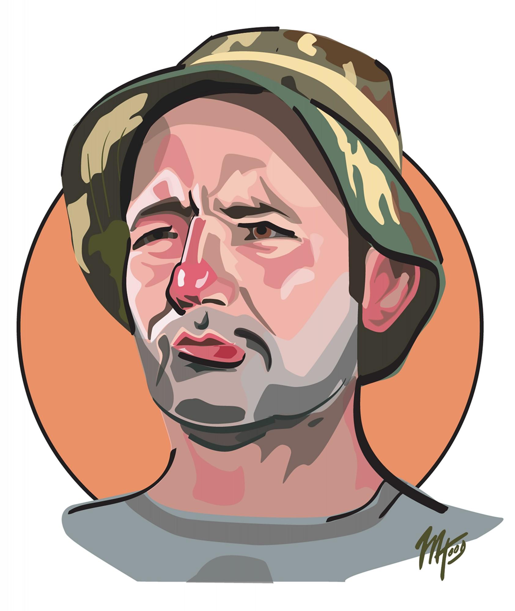 Caddyshack Caricature - Bill Murray